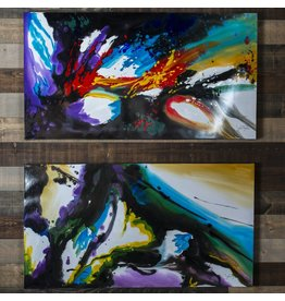 CONTEMPORARY PAINTING SET OF 2