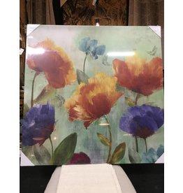 FLOWERS AND BUTTERFLIES WALL ART