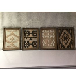 SET OF 4 AZTEK WALL ART VARDY