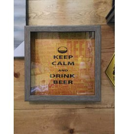BEER CAPS HOLDER KEEP CALM (LIGHT)