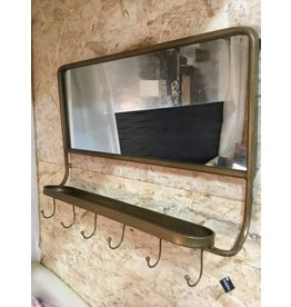 MIRROR WITH HOOKS