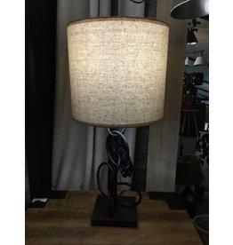LAMPE VINTAGE À MOTIF D'ANNEAUX