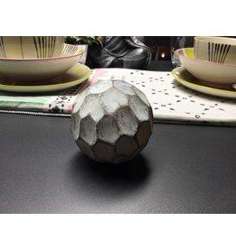 ANTIQUE WHITE DECORATIVE BALL