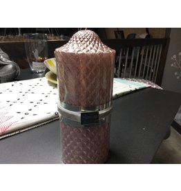 TALL PINK DIAMONDS CANDLE