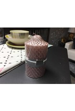 SMALL DIAMONDS CANDLE IN PINK