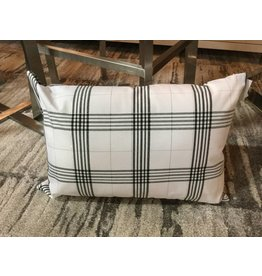 SILVER PLAID PILLOW