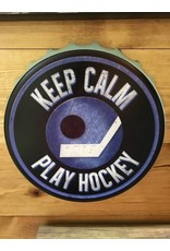 BLUE PLAY HOCKEY WALL ART