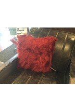LONG HAIR BURGUNDY PILLOW