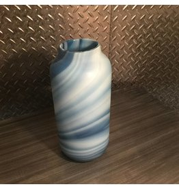 SWIRL GLASS VASE IN BLUE
