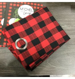 RED AND BLACK LUMBERJACK CURTAIN