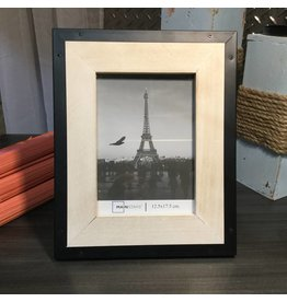METAL AND WOOD PHOTO FRAME