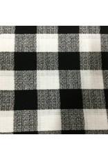 BLACK AND WHITE LUMBERJACK CURTAIN