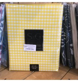 YELLOW GINGHAM OUTDOOR TABLECLOTH
