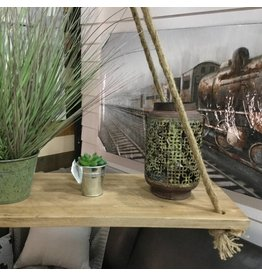 NATURAL WOOD FLOATING SHELF