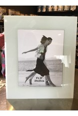 WHITE GLASS PHOTO FRAME