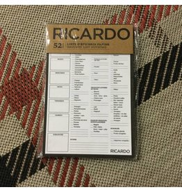 RICARDO GROCERY LIST (FRENCH)