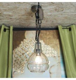 LAMPE SUSPENDUE AVEC POULIE