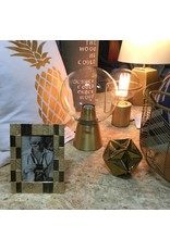 GOLD AND GLASS MODERN LAMP