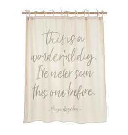 WONDERFUL DAY SHOWER CURTAIN