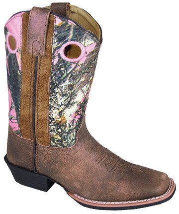 Smoky Mt Children's Smoky Mesa Brown/Pink Camo Boot