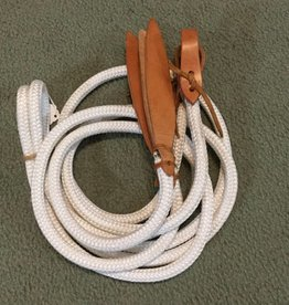 Circle L Rope Split Reins w/ Water Tie Ends, White