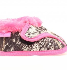 Blazin Roxx Pink Camo Infant Fleece Lined Moccasins