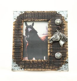"Western Moments Picture Frame - 3D Horse Head 4""x6"""