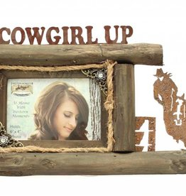 "Western Moments Picture Frame - Cowgirl Up 4""x6"""