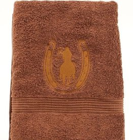 Western Moments Rider and Horseshoe Bath Towel