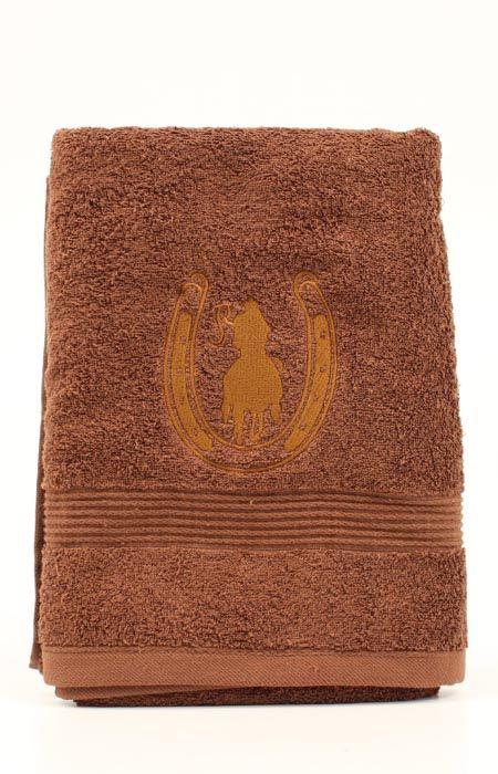 Rider and Horseshoe Bath Towel