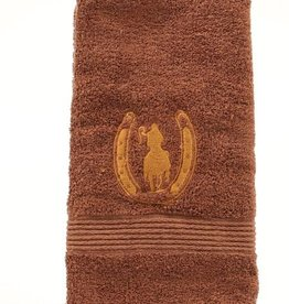 "Western Moments Rider and Horseshoe Hand Towel - 20""x28"""