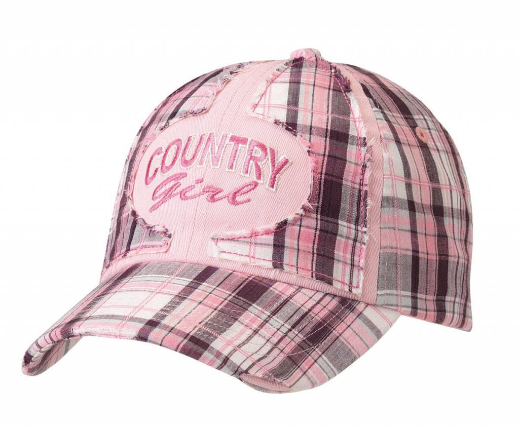 Ball Cap - Youth Pink Plaid Country Gal