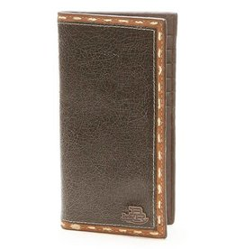 Justin Western Wallet - Bent Rail Edge Stitch Edge Rodeo Checkbook