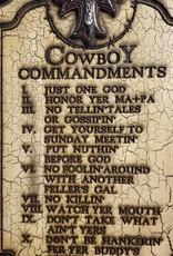 Giftcraft Inc. Cowboy 10 Commandments Plaque