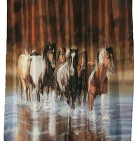 "Rush Hour"" Shower Curtain polyester 70""x 72"""
