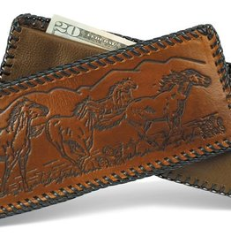 WEX Wallet - Laced Leather Wallet Assorted Designs Made in USA