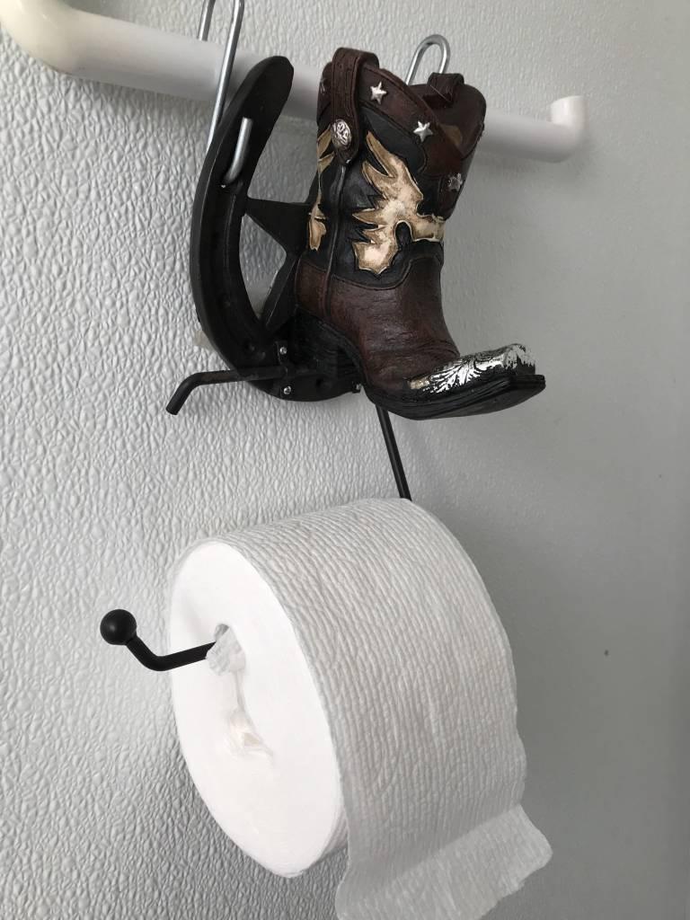 Western Boot Toilet Paper Hanger
