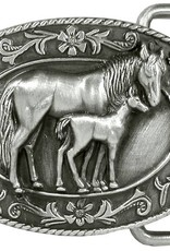 WEX Belt Buckle - Small Mare and Foal