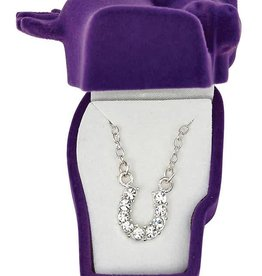 WEX Necklace - Clear Rhinestone Horseshoe