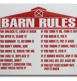 Barn Rules Sign (coated wafer-board)