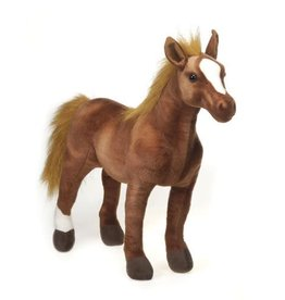 Large Standing Horse Plush - Bay