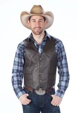 WEX Men's Western Polished Leather Vest