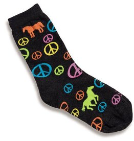 Socks - Children's Peace Signs and Horses