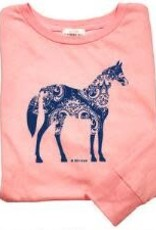 Stirrups Children's Stirrups Long Sleeve T-Shirt - Swirl Horse