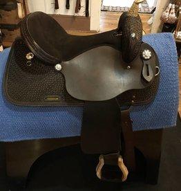 """Nash Saddlery Nash Round Weave Chocolate Barrel Saddle - 16"""" QH Bars"""