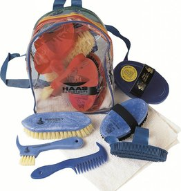 Haas HAAS Grooming Backpack - 6 Piece Brush Set with Cloth