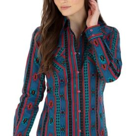 Wrangler Women's Wrangler Turquoise & Pink Striped Snap-Front Shirt (Reg $44.95 Now 15% OFF!)