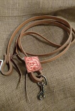 Circle L Circle L Game Reins, Leather, Tie End & Snap