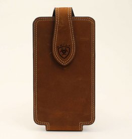 Cell Phone Case - Ariat Leather, Large Medium Brown