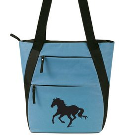 AWST Tote Bag - Lila Silhouette Horse - Silver Blue & Black